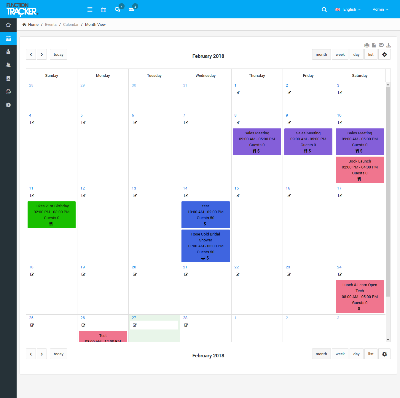 Event Software Calendar
